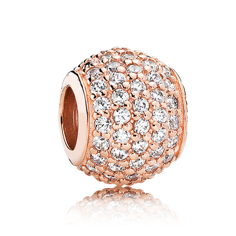 941c172dd Rose Gold Pave Butterfly Dazzling Droplet Twinkling Christmas Tree Beads  Fit Pandora Bracelet 925 Sterling Silver Charm Jewelry-in Beads from  Jewelry ...