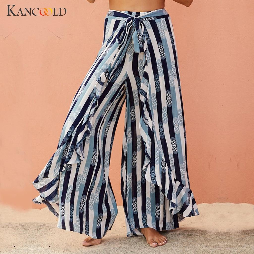 KANCOOLD   Pants   Women Girl Fashion Print Floral Trousers Ladies   Wide     Legs     Pants   Autumn Casual Loose   pants   woman 2019JAN2
