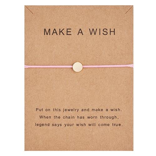 Регулируемый браслет с бумажными карточками в форме бабочки, звезды, короны, Круглый тканый браслет ручной работы, Простые Модные женские ювелирные изделия, подарки - Окраска металла: 18