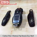 Углеродного Волокна Крышкой Пульта Дистанционного Ключа Автомобиля Чехол Ключ Защиты для Porsche Черный Глянец