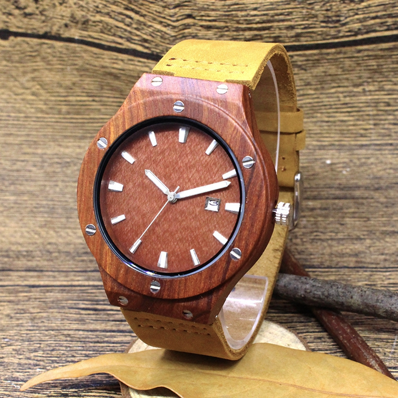 Quartz Wrist Watch  Relogio Feminino  Wooden Watch  Quartz Watches  TJW    Bamboo Wooden Watch  Top Brand Luxury  Date Display  Zebra Wood5