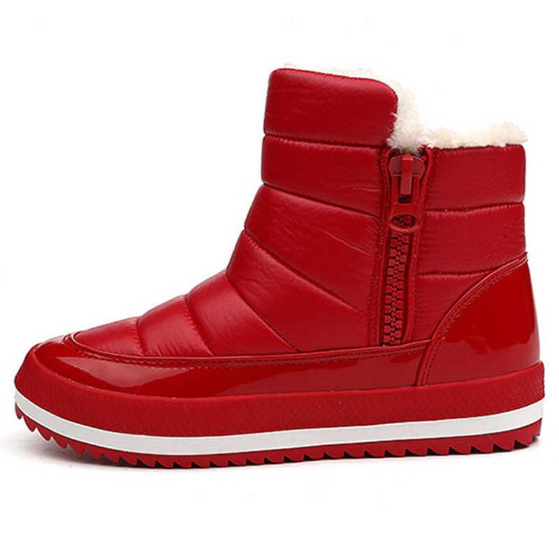 Kar Botları 2018 Marka Kadın Kışlık Botlar anne ayakkabısı Antiskid Su Geçirmez Esnek Kadın Moda günlük çizmeler Artı Boyutu