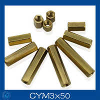 M3*50mm Double-pass Hexagonal Screw nut Pillar Copper Alloy Isolation Column For Repairing New High Quality