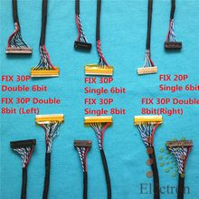 Common Used Universal LVDS Cable for LCD Display Panel Controller Support 14-26 inch Screen 18pcs/set(China)