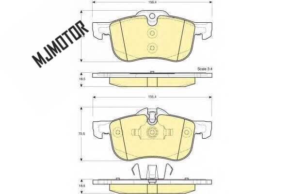 (4 pièces/kit) plaquettes de frein avant set auto voiture PAD KIT-FR frein à disque pour SAIC MG6 ROEWE 550 Automobile partie Automobile voiture 10008675 - 6
