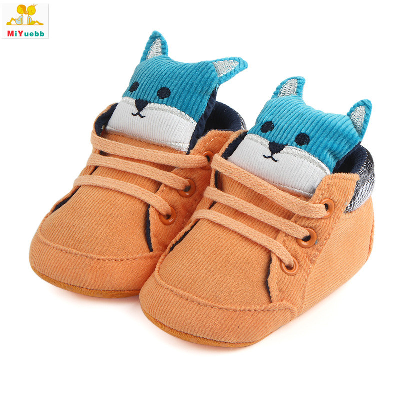 Spring Autumn Newborn Prewalker Soft Sole Cotton Cloth Animal Anti-skid Baby Boots Toddler Crib Kids Casual Shoes 80HI