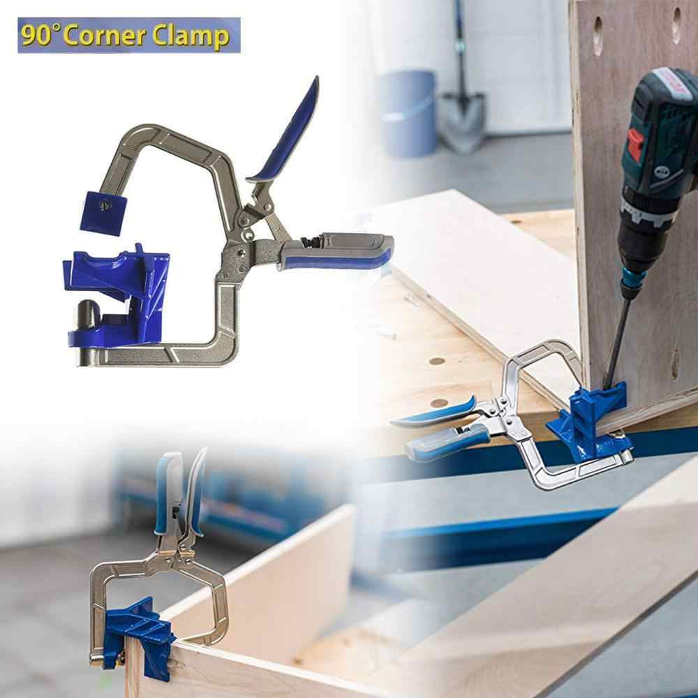 Auto-adjustable 90 Degree Corner Clamp and Face Frame Clamp Woodworking Fit Tool strubtsina clips serre joint klemmen @30