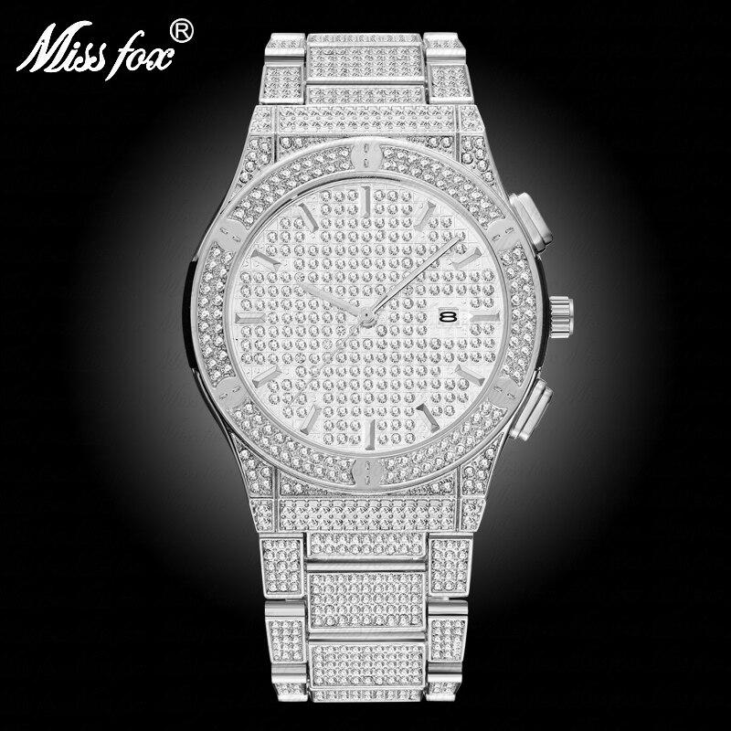 Erkek Kol Saati Classic Watch Men Carbon Fiber Fashion Steel HQ CZ Stone Geneva Wrist Watch Men Calendar Analog Quartz Men Clock