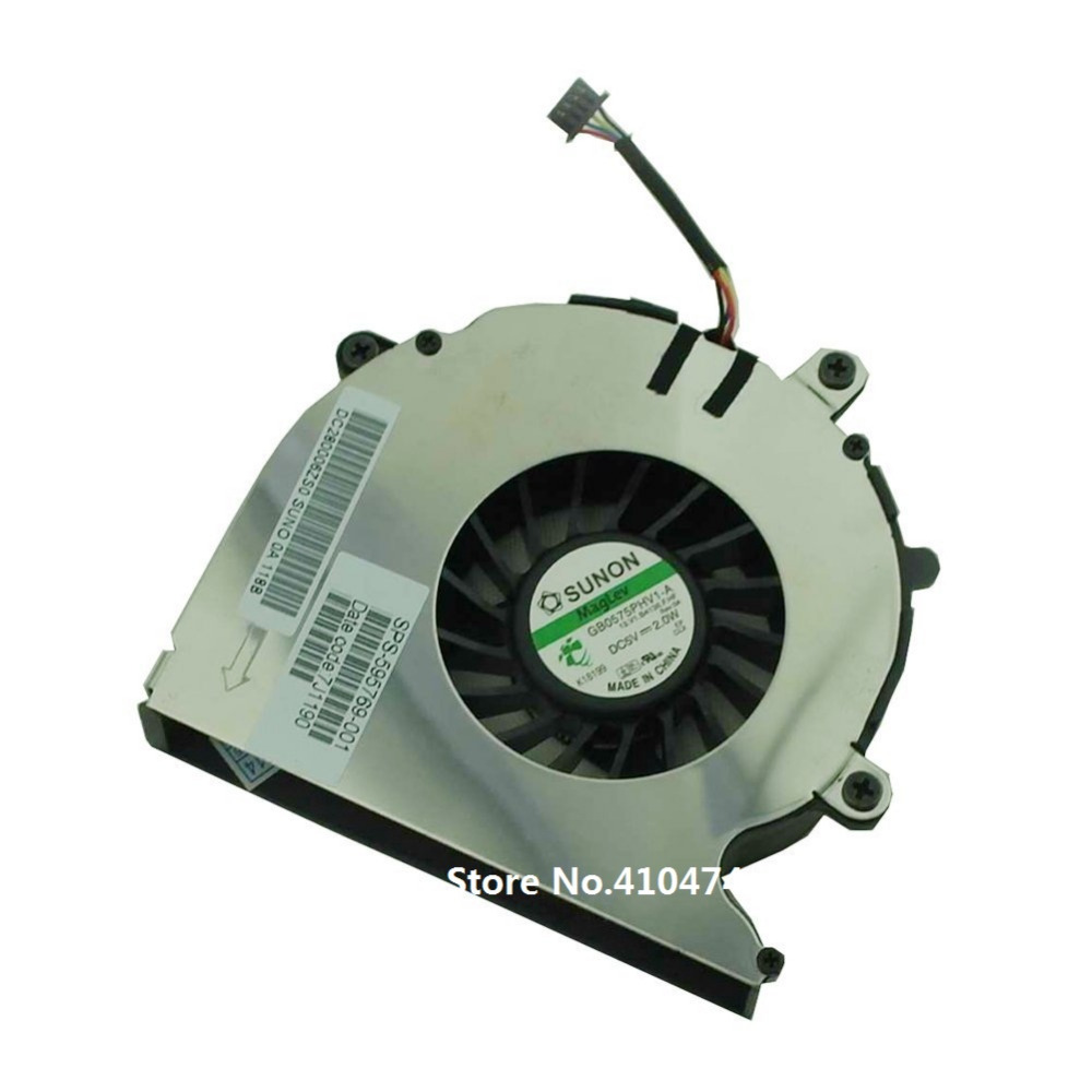 SSEA New Original Laptop CPU Fan For HP Elitebook 8540 8540P 8540w Series CPU Fan P/N GB0575PHV1-A SPS: 595769-001