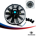 "PQY STORE-9 Inch Universal 12V 80W Slim Reversible Electric Radiator AUTO FAN Push Pull With mounting kit  Type I  9"" PQY-FANI9"