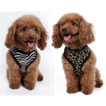 Leopard Pet Control Harness for Dog & Cat Soft Mesh Walk Collar Safety Strap Vest Yuppie Puppy Anti-Pull Mesh Harnes 1