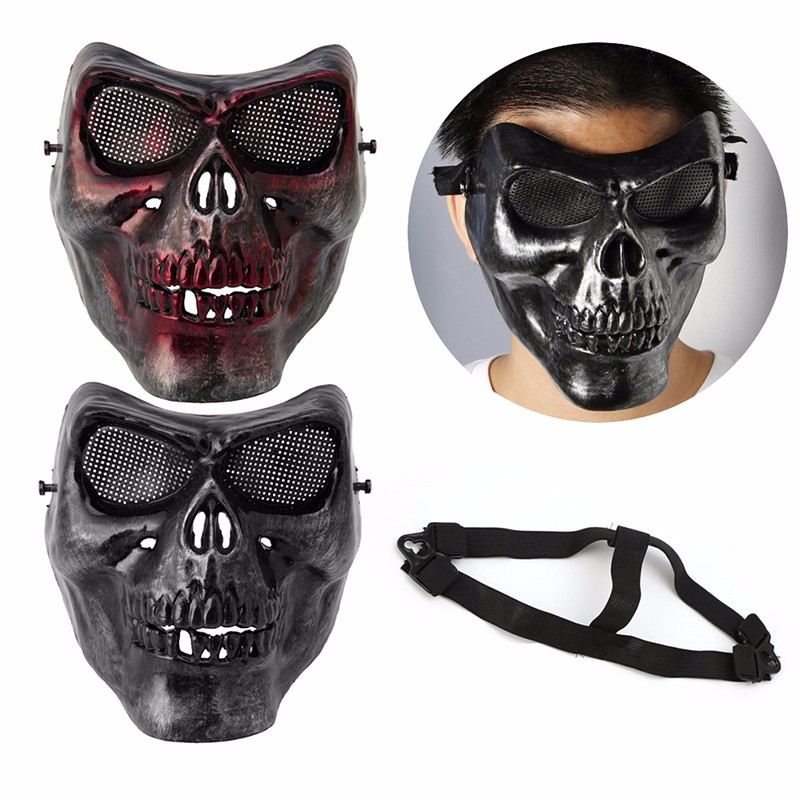 1PC Plastic Halloween Protective Skull Skeleton Mask <font><b>Terror</b></font> Full Face for Tactical Military Halloween Horror Masks Party Fun <font><b>New</b></font>