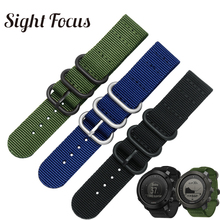 Correa de reloj de nailon para Suunto Traverse Alpha, banda de reloj negra, verde militar, 18MM, 20MM, 22MM, 24MM, correa de banda zulú Nato