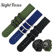 SIGHT FOCUS Nylon Horloge Band Voor Suunto Traverse Alpha Horloge Band Zwart Legergroen 18MM 20MM 22MM 24MM Zulu Nato Streep Riem