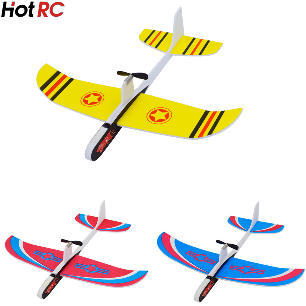 Hotrc Hand Throwing Airplane Free flying Fix Wing Foam Capacitor Electric Glider DIY Plane Model Educational