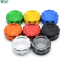 Motorcycle Aluminum Cylinder Rear Fuel Brake Fluid Reservoir Cover Tank Cap For Kawasaki Z 650 750 800 900 1000