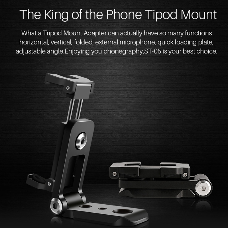 ST05 Foldable Mini Phone Tripod Mount Adapter Vertical 360 Rotation Tripod Stand For Iphone X 8 7 Samsung S8 7 Redmi