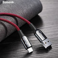 Baseus Smart Power Off USB Type C Cable Support 3A Quick Charge 3.0 for samsung galaxy note 9 s9 one plus 6 Type C Phone Devices