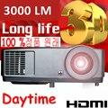 NUEVO 7000 lúmenes Proyector 1080 P Full HD 3D DLP Perfecta para La Educación de Negocios Reunión Proyector Proyector De Vídeo Durante el Día 203 W lámpara