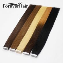 "FOREVER HAIR 2.0g / pc 18 ""Remy Tape στην ανθρώπινη μαλλιά Επέκταση Φυσικό ανθρώπινο τρίχωμα αόρατο δέρμα υφάδι χωρίς ραφές 20pcs / pac"