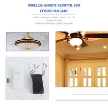 110-240V Universal Ceiling Fan Lamp Remote Control Kit Timing Wireless Control Switch Adjusted Wind Speed Transmitter Receiver(China)