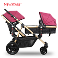 Ne for wst ars twin baby car suspension light double wheelbarrow