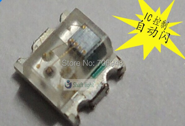 Automatic Flash SMD 0807 R,G,B led diode