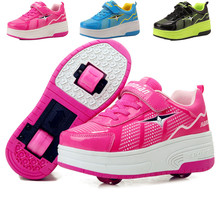 EUR 28-42 NEW Children Junior Roller Skate Shoes Kids Sneakers With Two heelies