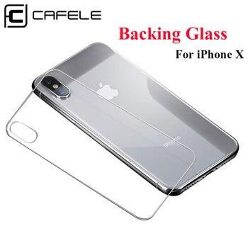 Película protectora trasera de teléfono Original CAFELE para iPhone X 10 Película protectora de vidrio posterior transparente HD Ultra delgada para iPhone X 10