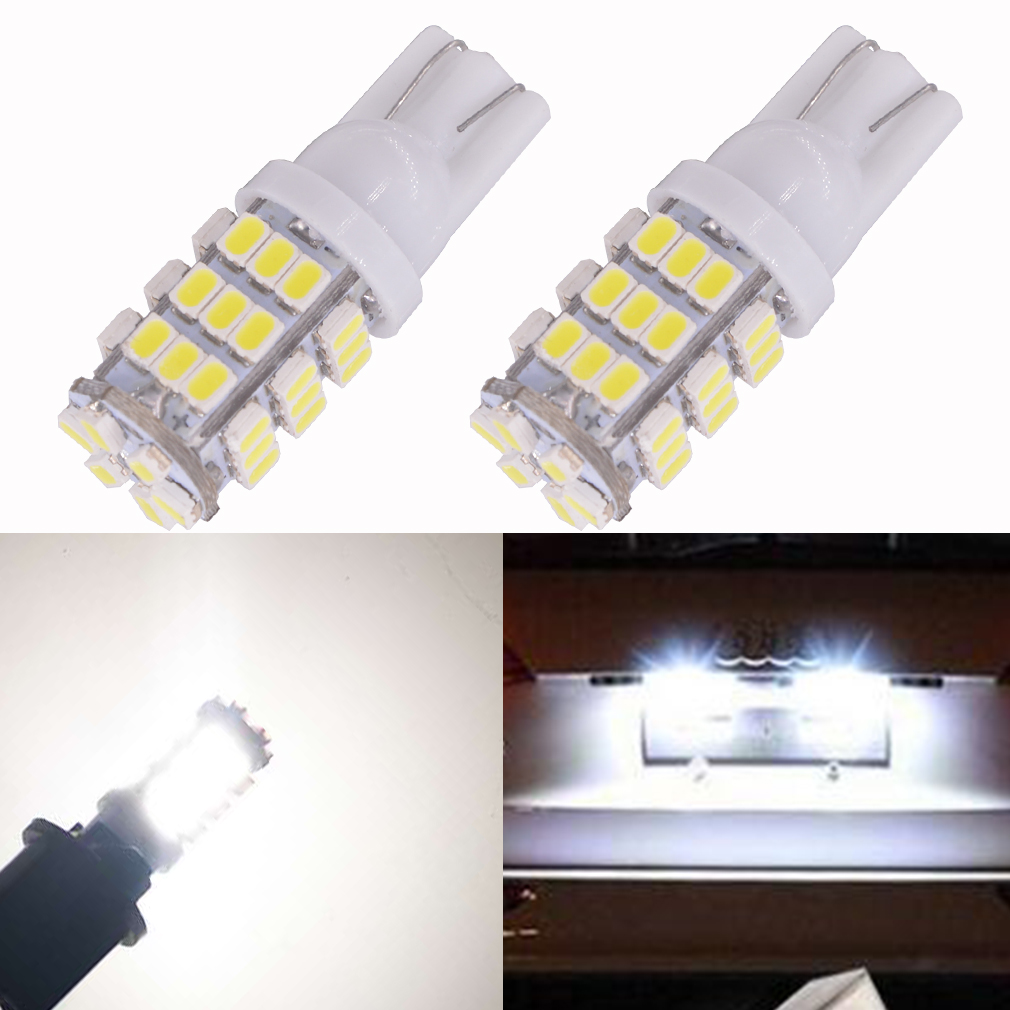 100Pcs Car LED Super Bright T10 W5W 42 SMD 1206 3020 Turn Side License Plate Light