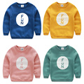Baby letter sweatshirt 2015 autumn and winter coat  paragraph children's clothing boys clothing child fleece outerwear wt-5125