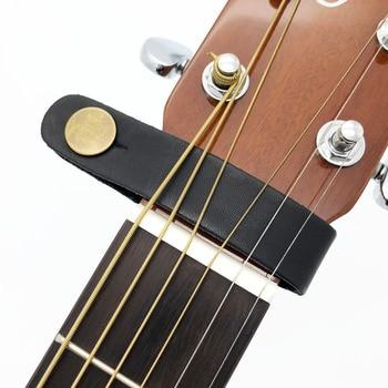 Կաշի կիթառի ժապավենի ամրոցի կոճակի անվտանգ կողպեք ՝ ակուստիկ էլեկտրական դասական կիթառի համար