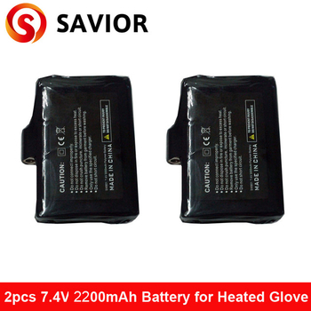 7.4V,2200mAh battery for savior heated glove heated products 2pcs in 1 pair ship all the world