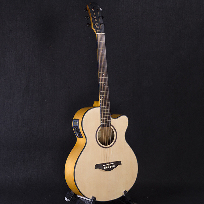 40-52 guitars 40 inch 5 EQ Electric Acoustic Guitar Picea Asperata wood guitarra with guitar pickup tuner strings two way regulating lever acoustic classical electric guitar neck truss rod adjustment core guitar parts