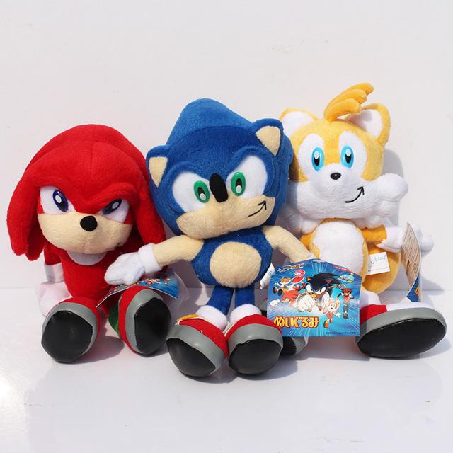 23cm Sonic the Hedgehog Plush Toys Ultimate Flash Sonic Hedgehog Plush Doll Good Gift For Kids Free Shipping 3pcs/lot