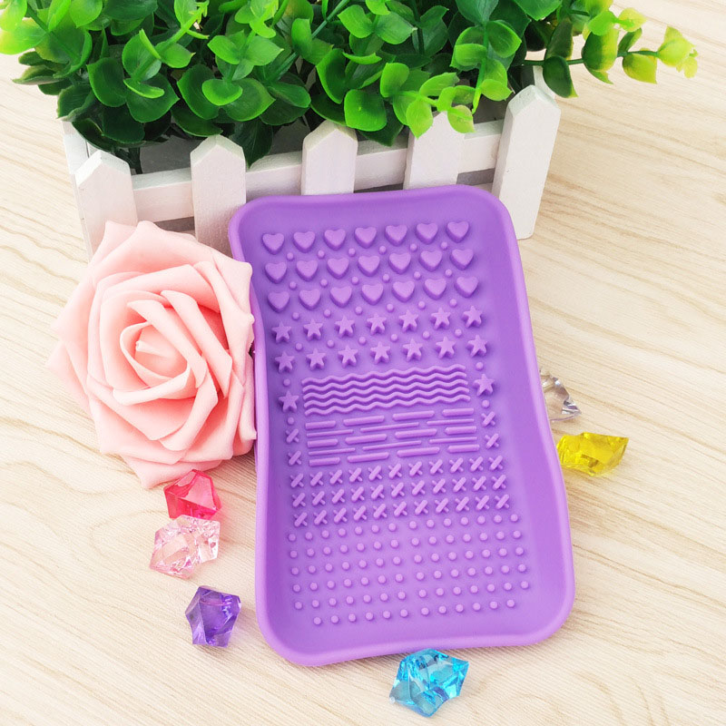 Silicone Brush Cleaning Tools Soap Dish Shape Cosmetics Cleaner Washing Brushes Cleansers (8)