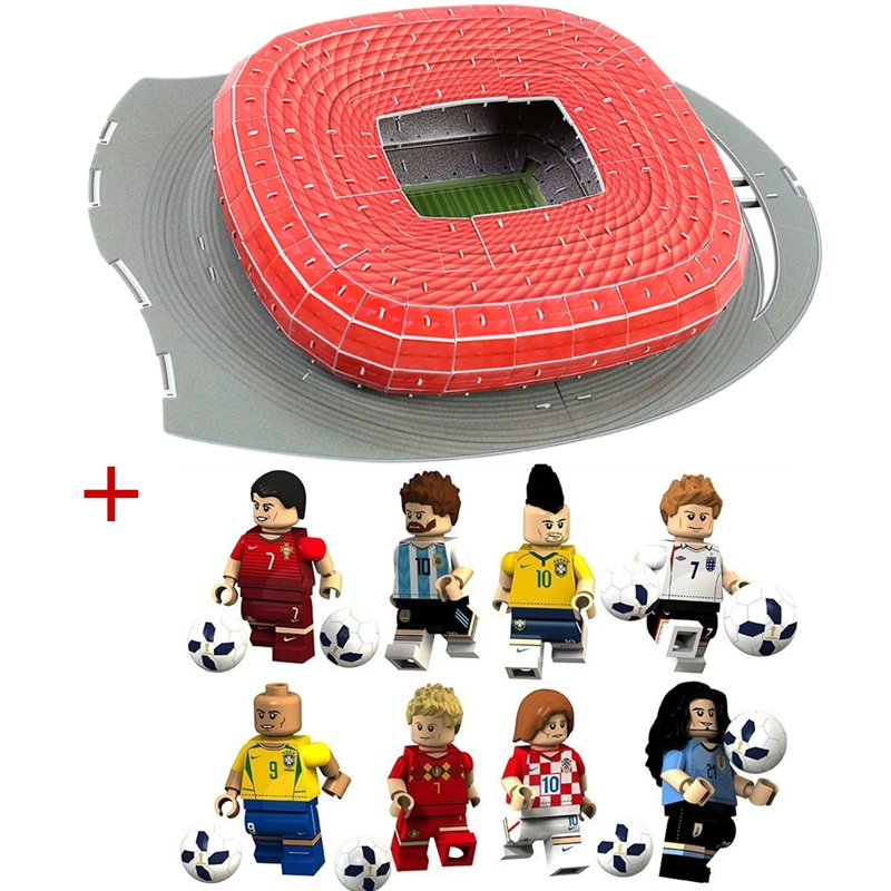 HOT NEW Classic Jigsaw Puzzle Architecture Germany Munich Allianz Arena Football Stadiums Toy Models Sets Building Paper