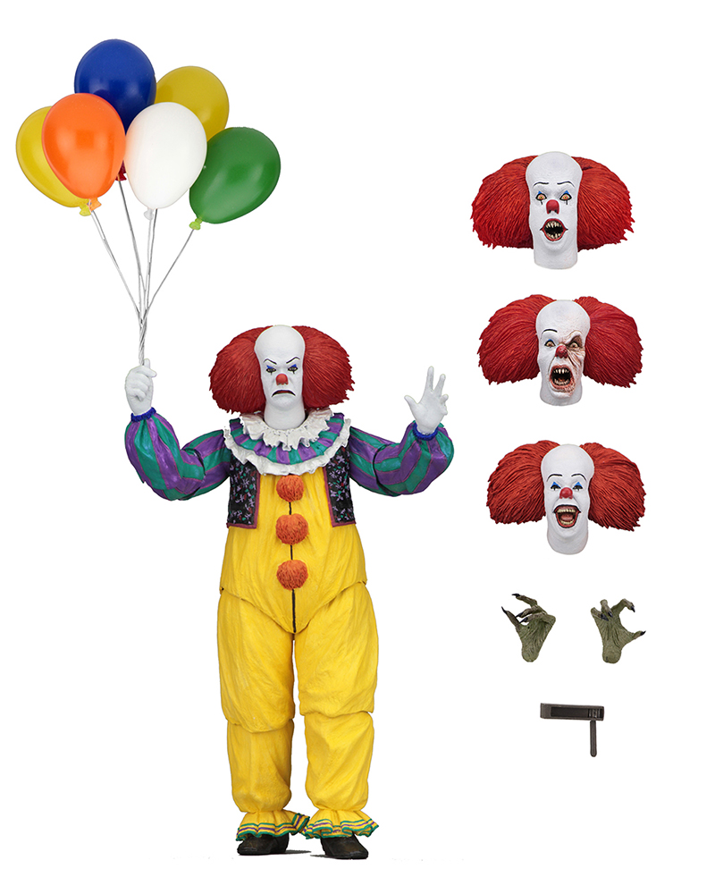 NECA IT Pennywise 1990 Stephen King It Clown Action Figure Collection Model Toys For Halloween Decoration Gift (6)