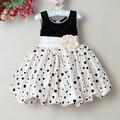 new girls polka dot tunic summer dress baby girls sleeveless princess party dress formal wedding dress for children clothes
