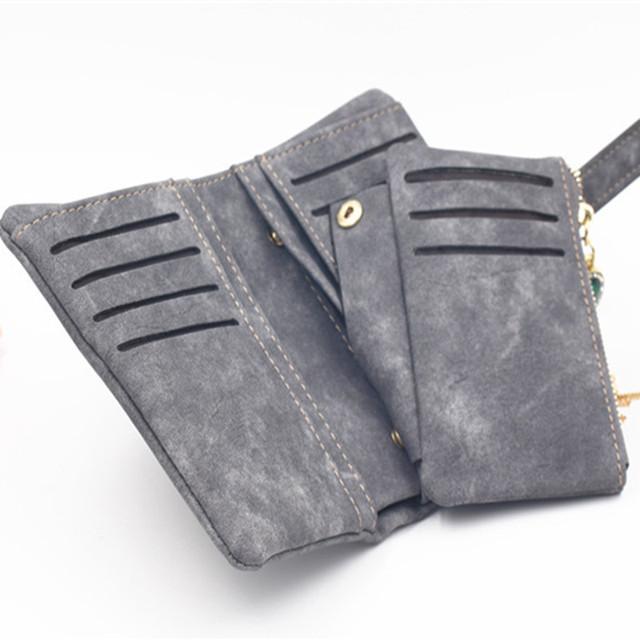 Exquisite Vintage Compact Suede Women's Wallet
