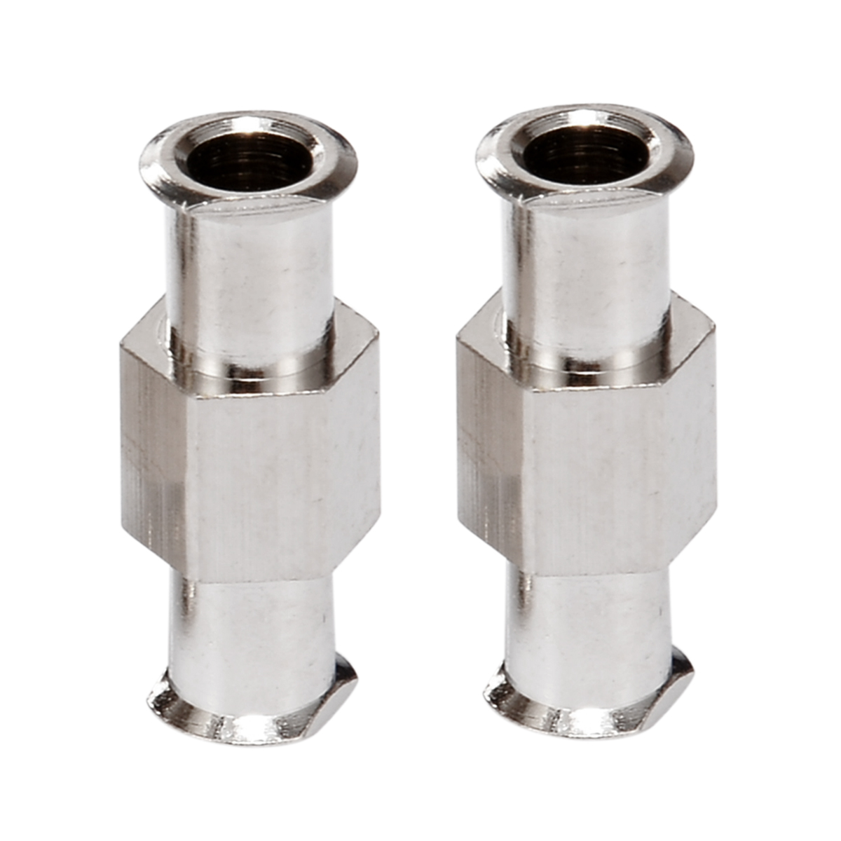 2pcs Luer Lock Adapter Coupler Nickel Plated Brass L-9Z Luer Lock Fitting Female to Female Fittings Connector with 4mm Aperture