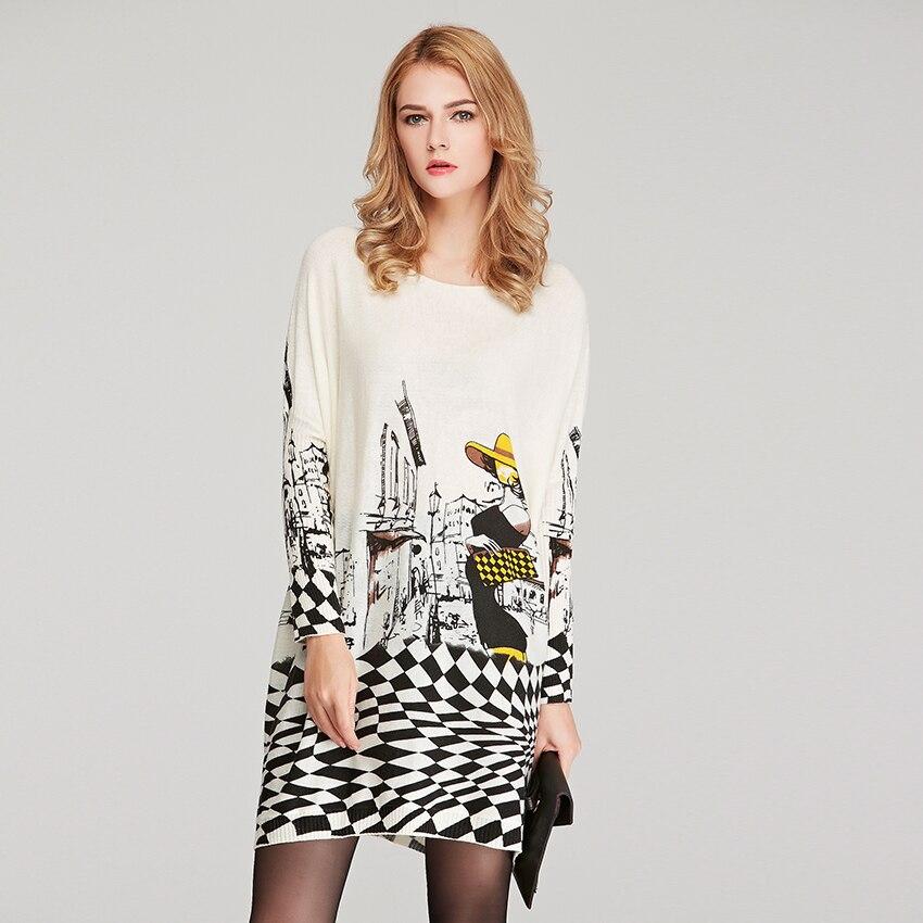 2019 Nová značka podzim zimní módní dámské šaty svetry s dlouhým rukávem vlněné svetrky pro ženy 6133