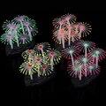 1pc Silicone Emulational Luminous Glowing Effect Sea Anemone Aquarium Artificial Fake Coral Plant Fish Tank Decoration