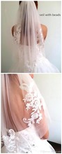 Soft Tulle New Arrival Diamond 2018 Waist-Length Veil Short Fingertip Wedding Veil Bridal Accessories With Comb voile mariage