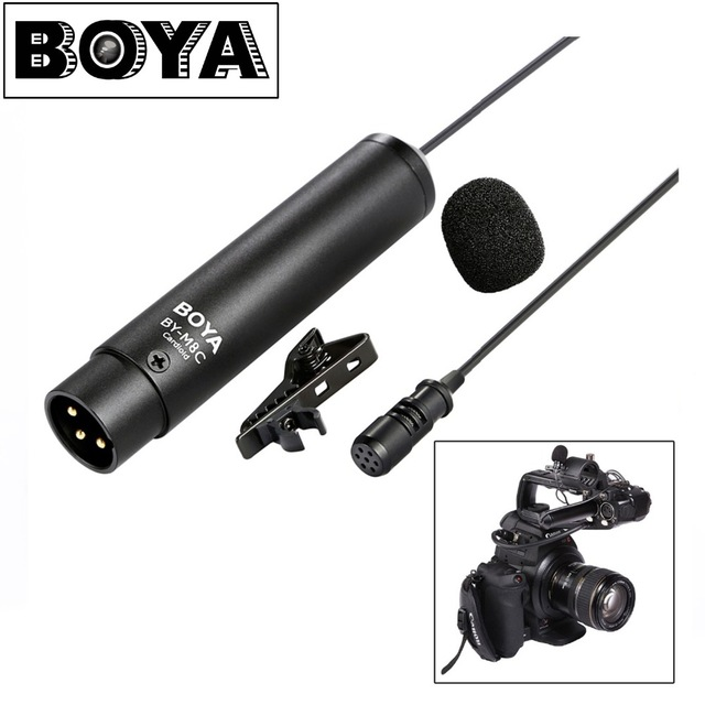 BOYA BY-M8C Professional Cardioid Clip-on Lavalier XLR output connector Microphone for Canon Sony Camcorder Audio recorders губка torso микс 3043468