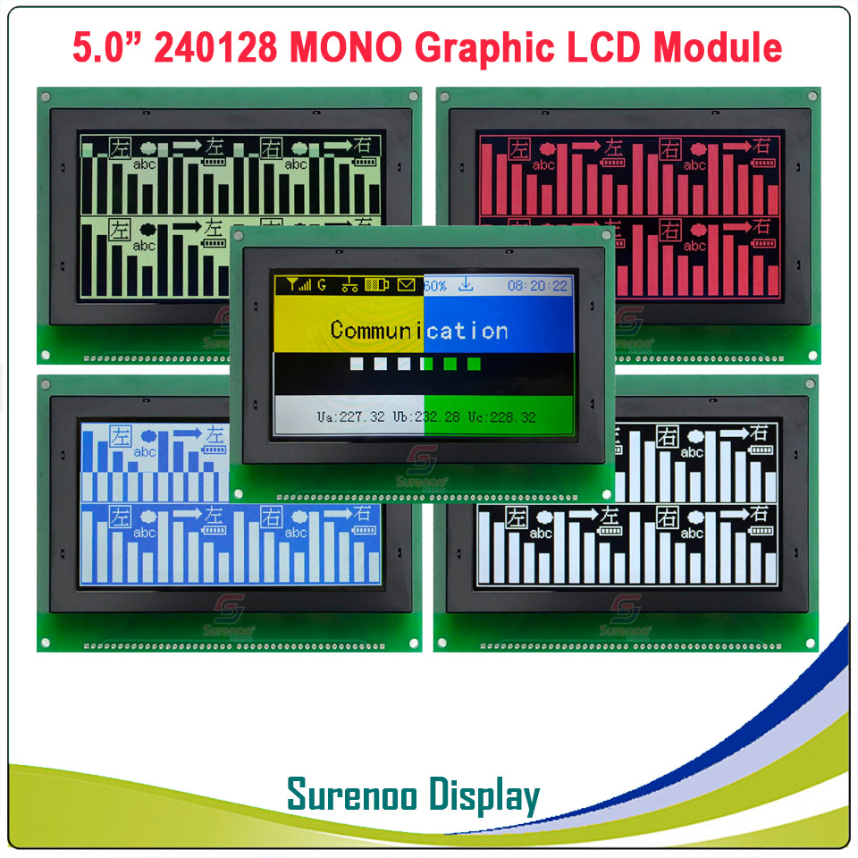 240128 240*128 MONO Graphic Color TFT Matrix LCD Module Display Screen build in UCi6963 Controller in More Colors