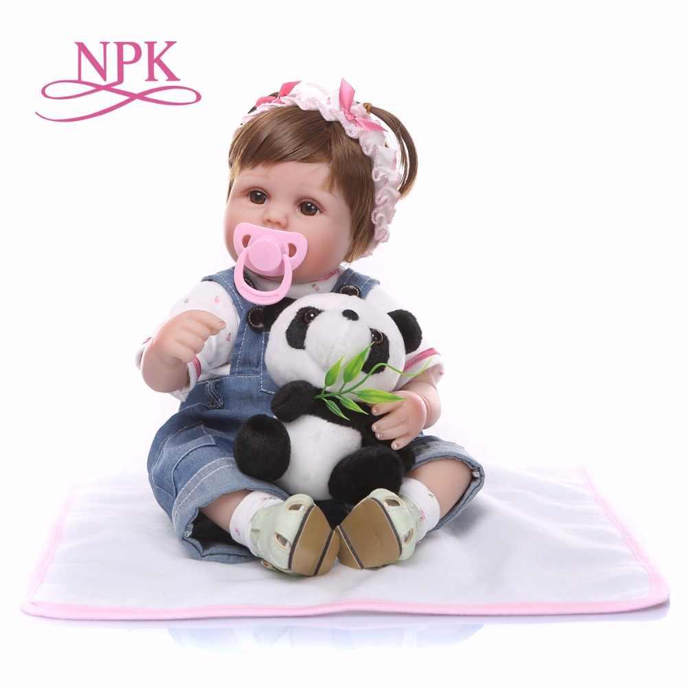 Bebes reborn boneca 43 centímetros suave silicone renascer baby dolls criança com corpo de silicone menina Natal surprice presentes lol boneca