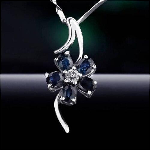 Колье ожерелье Qi xuan_темно-синий камень цветок кулон ожерелье_ Настоящее ожерелье_ Качество прямые ed_производитель прямые продажи