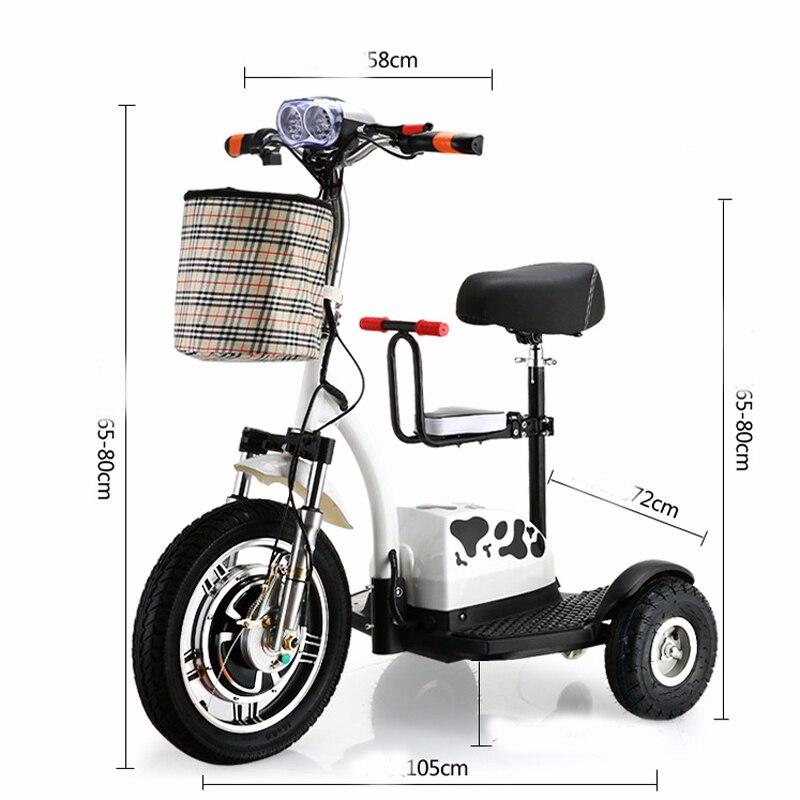 Scooter électrique Citycoco batterie au Lithium voiture LED Simple enfants sièges 3 roues rondes moto pour personnes âgées Disab LED Scooter