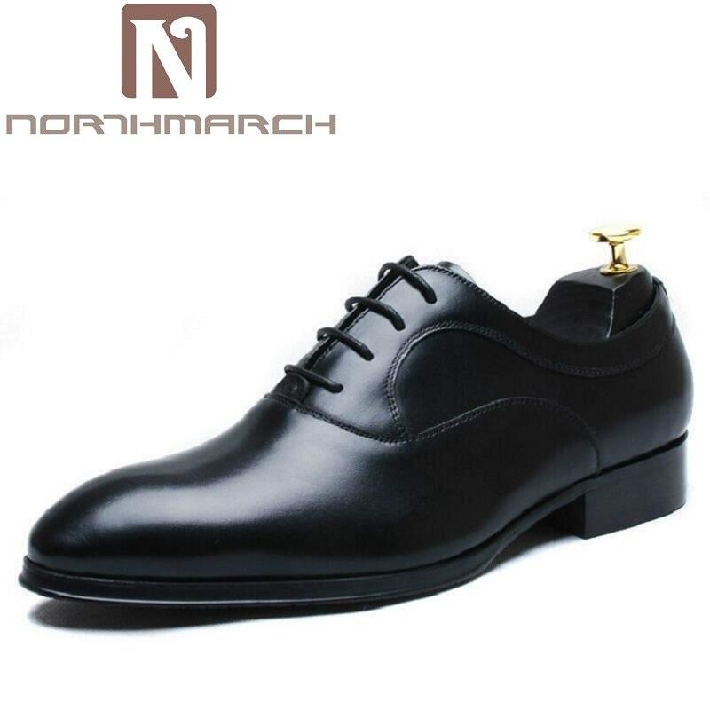 Northmarch Для мужчин для отдыха Пояса из натуральной кожи модные британский стиль жениха свадебные туфли Бизнес Для мужчин Представительская о